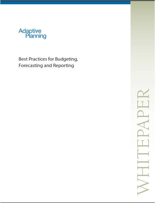 adaptive planning best practices for budgeting forecasting and